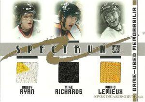 Spectrum Gold Bobby Ryan, Mike Richards, Mario Lemieux