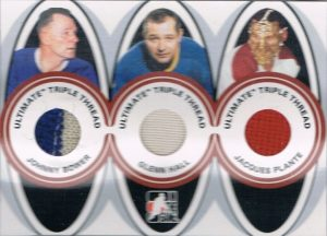 Triple Thread Johnny Bower, Glenn Hall, Jacques Plante