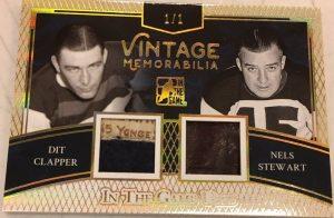 Vintage Memorabilia 2 Dit Clapper, Nels Stewart
