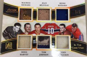 Vintage Memorabilia 6 Maurice Richard, Jean Beliveau, Henri Richard, Doug Harvey, Tom Johnson, John Ferguson