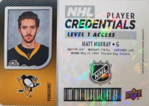Player Credentials Matt Murray