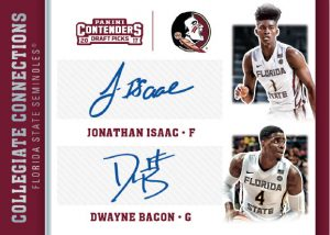 Collegiate Connections Signatures Jonathan Isaac, Dwayne Bacon
