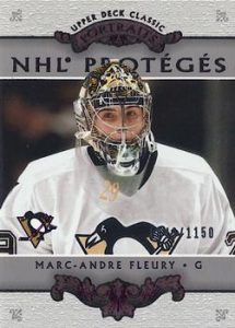 NHL Proteges Redemption Marc-Andre Fleury