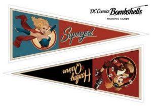 Pennant Stickers Supergirl, Harley Quinn