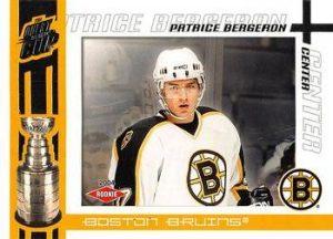 Rookie Patrice Bergeron