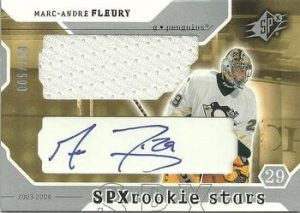 Rookie Stars Jersey Auto Marc-Andre Fleury