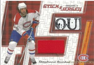 Stick and Jersey Stephane Quintal