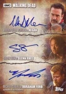Triple Autographs Negan, Glenn Rhee, Abraham Ford