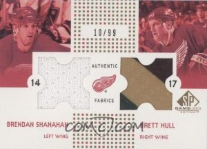 Authentic Fabrics Combo Gold Brendan Shanahan, Brett Hull