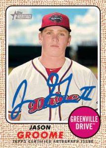 2017 Topps Heritage Minor League Edition #ROA-JG Jason Groome Auto Baseball Card Verzamelingen