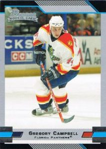 Rookies Gregory Campbell