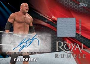 Royal Rumble Mat Relic Autos Goldberg