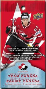 2017 Upper Deck Canadian Tire Team Canada