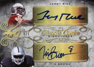 Classic Combos Signatures Jerry Rice, Tim Brown