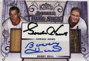 Double Twig Sigs Gordie Howe, Bobby Hull
