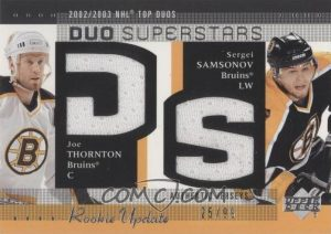 Duo Superstars Jersey Joe Thronton, Sergei Samsonov