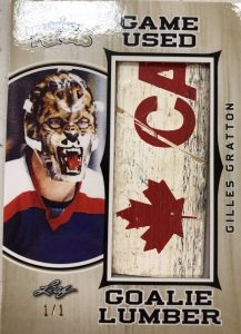 Game-Used Goalie Lumber Gilles Gratton