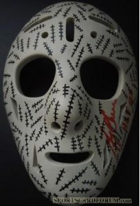 Mini Masks Signed Gerry Cheevers