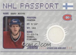 NHL Passport Saku Koivu