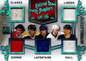 Retired Numbers Multi Bobby Clarke, Trevor Linden, Marcel Dionne, Pat LaFontaine, Brett Hull