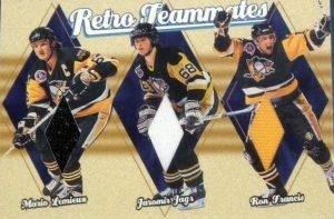 Retro Teammates Mario Lemieux, Jaromir Jagr, Ron Francis