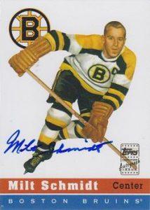 Rookie Reprints Autographs Milt Schmidt