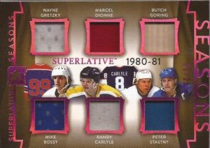 Superlative Seasons Wayne Gretzky, Marcel Dionne, Butch Goring, Mike Bossy, Randy Caryle, Peter Stastny