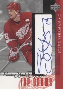 Top Draws Autographs Steve Yzerman