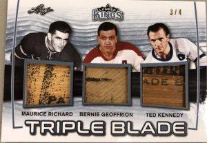 Triple Blade Maurice Richard, Bernie Geoffrion, Ted Kennedy
