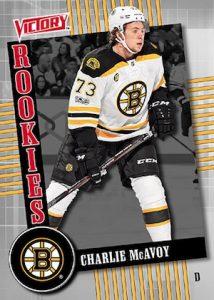 UD Victory Black Rookies Charlie McAvoy