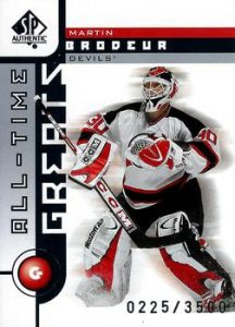 All-Time Greats Martin Brodeur