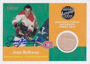 Arena Relics Autographs Jean Beliveau