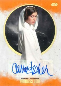 Autographs Carrie Fisher