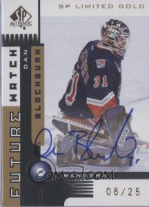 Future Watch Autograph Limited Gold Dan Blackburn