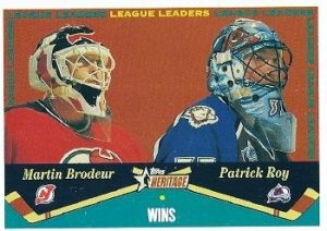 League Leaders Martin Brodeur, Patrick Roy