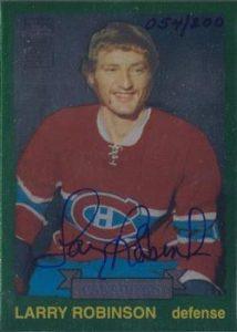 Reprint Autographs Larry Robinson