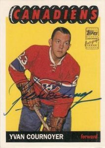 Rookie Reprint Autographs Yvan Cournoyer