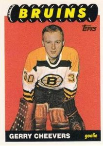Rookie Reprints Gerry Cheevers