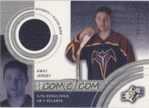 Rookie Threads Away Jersey Ilya Kovalchuk