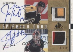 Signed SP Combo Patch Card Joe Thronton, Martin Biron