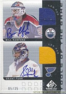 Signed Tools of the Game Combo Bill Ranford, Grant Fuhr