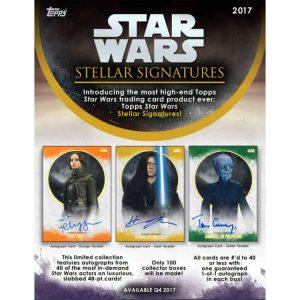 Star Wars Stellar Signatures Sell Sheet