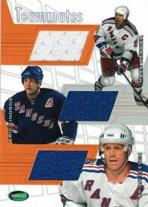 Teammates Brian Leetch, Eric Lindros, Mark Messier