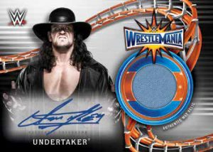 Autographed Wrestlemania 33 Mat Relics The Undertaker