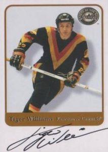 Autographs Tiger Williams