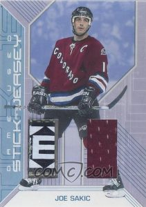Game-Used Stick and Jersey Joe Sakic