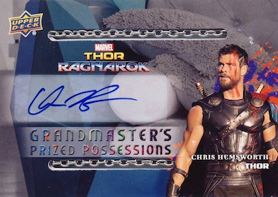 Grandmaster's Prized Possesions Autograph Chain Chris Hemsworth as Thor