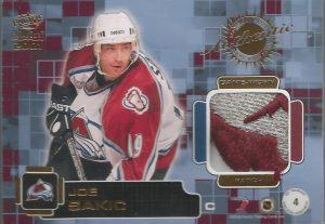 Jersey and Patch Back Patch Joe Sakic