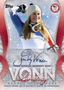 Lindsey Vonn Career Milestones Autographs