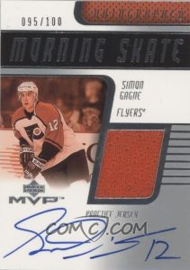 Morning Skate Jersey Autographs Simon Gagne